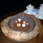 Obrigada Hugo, por esta surpresa, Terra de chocolate, com cogumelos de suspiros, trufas maravilh