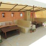 salons pour les petits déjeuners sur la terrasse