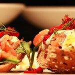 Open Smoked Salmon Sandwich