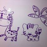 Dettaglio carinissimo dipinto su muro