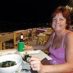 dinner on the beach in the village