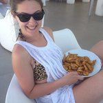Sorting out my hangover with a bowl of wedges, best wedges ever as they did the trick!