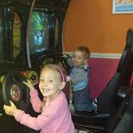 In the Club house arcade