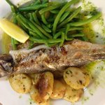 Whole Seabass with Green Beans & New Potatoes