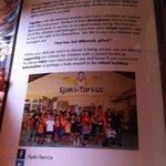 Writeup about Sjaki-Tari-Us on the menu