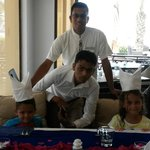staff at AL BAHAR MAKING OUR LAST DAY EXTRA SPECIAL
