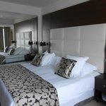Bedroom with huge mirro