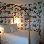 Comfortable bed and charming room