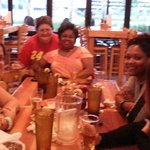 Friends at Hooters near the Hard Rock
