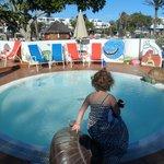 The baby splash pool