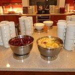 Home made compot and marmelade