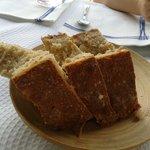 Delicioso pan de cereales y harina de maiz