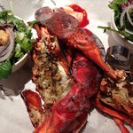 Whole lobster with salad and fries £20
