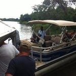 Rescuers Boat Stuck