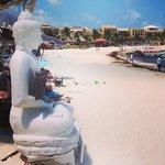Buddha on the beach just outside El Taj
