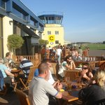 Sunny day on the terrace at AV8 Cotswold Airport
