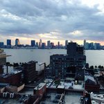 View over Holland Tunnel to NJ at sunset