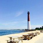 Barnegat Lighthouse looks like a beautiful postcard!