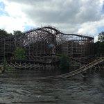 Joris en de Draak wooden roller coaster