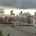 View across the Thames from the Tate's cafe balcony.