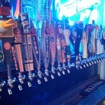 Large selection of craft beers on tap