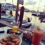 Watching the sunset with a rum runner and chorizo & goat cheese empanadas