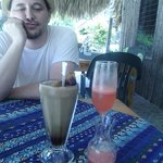 Ice Coffee and Watermelon Mimosa - He is like really?