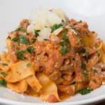 Pappardelle with Porcini Bolognese