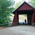 Evening at Covered bridge