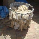 Meknes Medina - raw fabric materials
