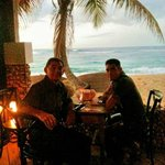 Father and Son enjoying Christmas dinner at Villa Montana