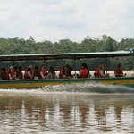 Transportation in Yachana's High Speed Canoe