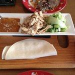 Chicken and peanut sauce pancake wraps - Grazing dish