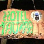 Carved Hotel Sign