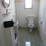il bagno nell'insieme dopo la doccia l'acqua lo attraversa