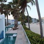 Private pool and Dawn Beach