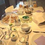 The beautiful breakfast table