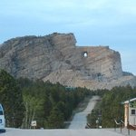 View of the Crazy Horse Memorial from the parking lot