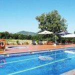 Pool area at Hotel Mas Pelegri