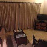 View of living area in studio suite