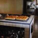 Das Brot wird jeden Tag selbst frisch gemacht