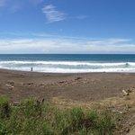 Der Hausstrand (Playa Ostional) ist nur einen Katzensprung entfernt
