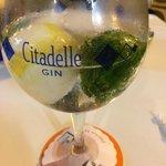 Uno gin tónic  bien fresquito