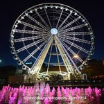 the Manchehster eye- the big wheel with the magical fountains a wonderful foreground!