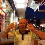 Doug having a drink ha ha