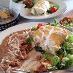 Chicken Chimichanga and Beef Burrito