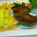 Argentinisches Rumpsteak + Steakhaus Pommes
