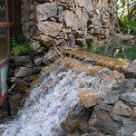 inside water feature