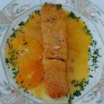 Salmon con Salsa de Naranja