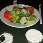 house salad with blue cheese